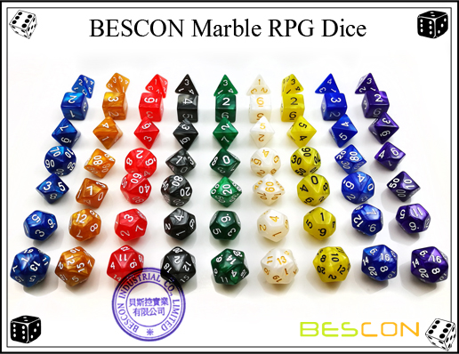 BESCON Marble RPG Dice Set-2