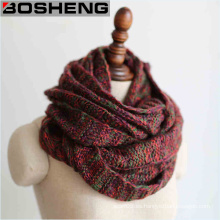 Mix Color Invierno cálido de moda para las mujeres Envuelva el cuello de bufandas Infinity