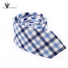 Kundenspezifische Geschäfts-Marine-Grau-Streifen-Krawatte