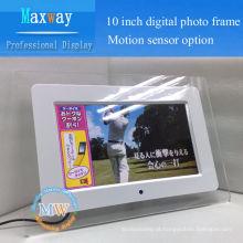 Moldura acrílica de alta resolução 1024 * 600 moldura da foto usb