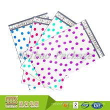 Impresión a todo color de encargo de la tira autoadhesiva Bolso de correo plástico del lunar biodegradable 6X9 9X12