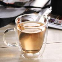 350ml Handamde Borosilicate Double Wall Glass Mug