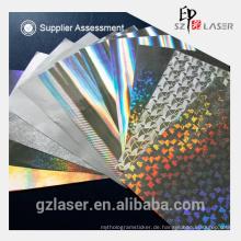 157gsm metallisches holographisches Transferpapier für Verpackungen