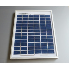 Panel solar policristalino de 5W 18V usado para el sistema casero 12V