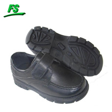 cheap children leather school shoe