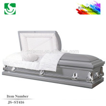 velvet lining gray finish 16 gauge metal caskets