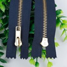 Apparel accessories 10inch brass zippers for sale