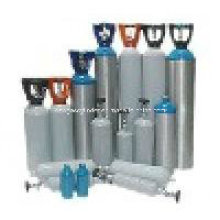 Cilindros de oxigênio de alumínio de alta pressão sem costura