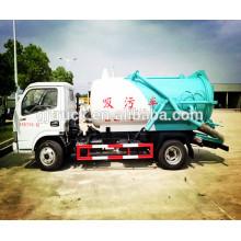 CNG 5CBM DongFeng Alcantarillado Sucker / Truck Fecal Suction Truck / Camión de Succión al Vacío / camión de succión de vacío / camión de basura de alcantarillado RHD