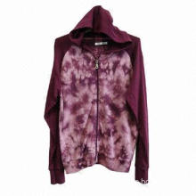 Ladies' fashionable tied-dye 100% cotton jacket, customized clothing are accepted