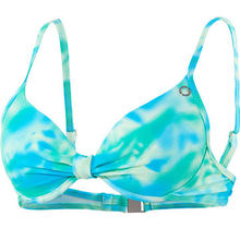 Women's Geotropic Print Halter Swim Top, Made of 82% Polyamide, 18% Elasthan, Fashionable and Soft