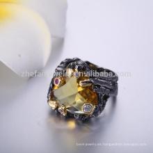 el último anillo de dedo encantador del oro diseña el anillo de dedo grande del tono de la forma del corazón
