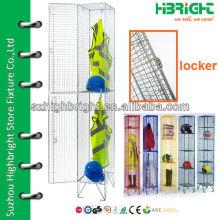 Individual Metal Wire Mesh Locker dos puertas