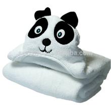 Toalha de banho de bebê com capuz branco Panda, 0-24 meses, 100% Natural orgânico bambu, Luxoriously Soft, Ultra Plush e absorvente