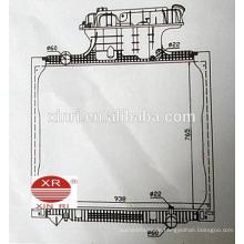 Kunststoff-Tankwagen Heizkörper aus China Fabrik für MAN TGA 81061016458 16468 16472 16510 16518