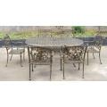 Литой алюминиевый обеденный набор металла патио открытый Садовая мебель