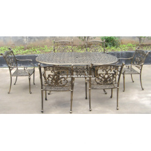 Cast Aluminium à manger ensemble de meubles de jardin extérieur de Patio métal