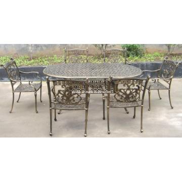 Cast Aluminium Dining Set Metal Patio Outdoor Garden Furniture