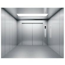Ascenseur de fret en acier inoxydable avec deux panneaux d'ouverture du centre
