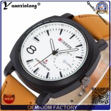 Yxl-689 neue Armee militärische Leder Armband Mode Currenful Uhr für Herren