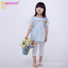 Lastest Design Girls Long Appliqued Cute Dress Shirts