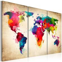 World Map Canvas Väggmålning