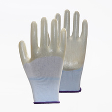 Solid Color Breathable Non-slip PVC Work Gloves