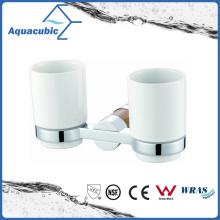 Wall Mount Chromed Double Tumbler Holder (AA6715B)