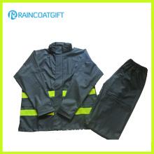 Imperméable imperméable de PVC / PU de PVC de haute qualité et pantalon Rpu-005