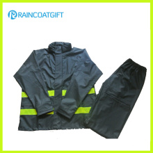 High Quality Men′s Waterproof PVC/PU Raincoat and Pants Rpu-005