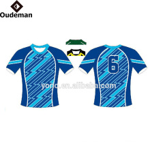 100% cheap high quality blank rugby jersey for your own design or logo