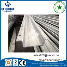 automatic solar structure hat channel metal roller machine