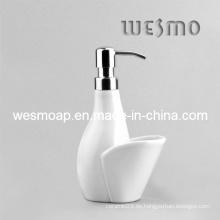 Único y simple dispensador de jabón de porcelana estilo (wbc0602b)