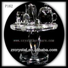 Magnifique récipient en cristal P162