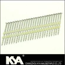 Clavos de cintas de plástico galvanizado de zinc