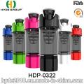 600ml BPA gratis botella de la coctelera de venta por mayor proteína, polvo de plástico botella de la coctelera (HDP-0322)