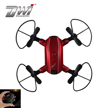 DWI Hot items 2.4G RC mini smart folded drone, WIF FPV drone mini toy with hd camera