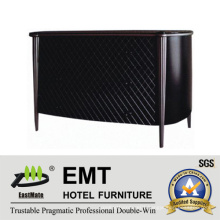 Elegant Black Mesh Facing Design Wooden Decorative Cabinet (EMT-DC06)
