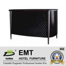 Gabinete decorativo de madeira elegante de revestimento de malha preta (EMT-DC06)