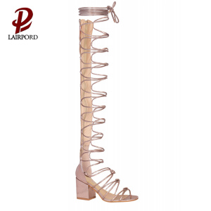 lace up new latest sandals for women