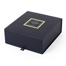 New Fashion Design for Magnetic Gift Box Folding black cardboard gift box for scarf supply to South Korea Exporter