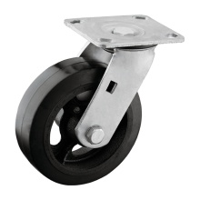 Swivel Plate Rubber Trolley Wheel