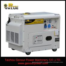 Fil de cuivre de 3kVA 5kVA 10kVA 5kw 10kw 100% / générateur diesel monophasé AC220V50Hz / générateur silencieux de moteur diesel de type
