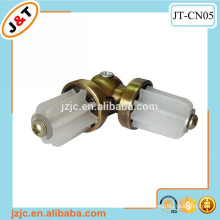 fashion metal curtain rod accessories,stainless steel and plastic turning connecter