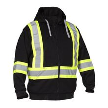 Sweat à capuche Hi Vis Safety Zip orange