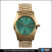 Unisex Luxus Frauen Uhr vergoldet
