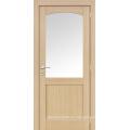 Chapa de roble 2 puertas de entrada de panel Estilo puerta, puertas de estilo de la coctelera de MDF