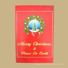 Nouvelle arrivée dernière conception carte cadeau personnalisée pour la décoration de Noël