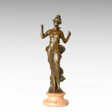 Klassische Figur Statue Römische Dame Bronze Skulptur TPE-262