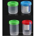 Contenedor de muestras aprobado CE / tapón de orina con tapa, botella de 140 ml